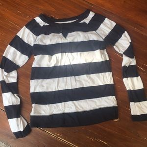 The limited long sleeve striped tee sz M